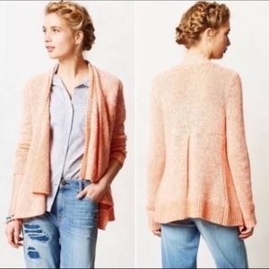 "ANTHRO Moth ""Winnie"" Waterfall Cardigan Sweater S"